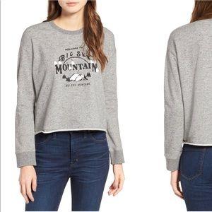 Madewell Big Sky Cutoff Sweatshirt size small
